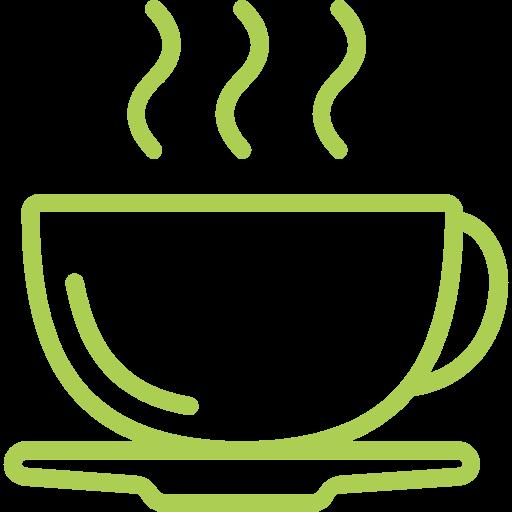Água e café cortesia