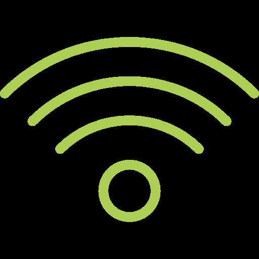 Internet de alta velocidade via cabo ou Wi-Fi